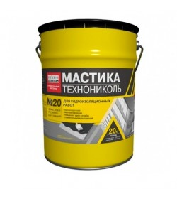 Мастика битумно-резиновая ТЕХНОНИКОЛЬ №20, ведро 20 кг